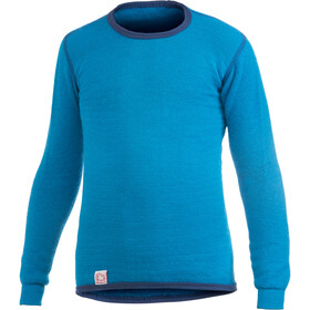 Woolpower 200 T-shirt manches longues à col ras-du-cou Enfant, dolphin blue